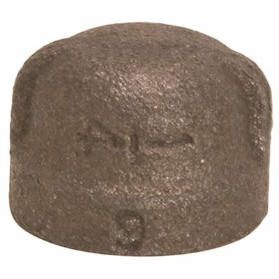 PROPLUS 1/2 IN. BLACK MALLEABLE CAP