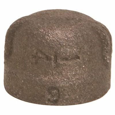 PROPLUS 1-1/4 IN. BLACK MALLEABLE CAP