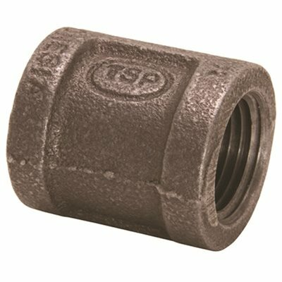 PROPLUS 1/2 IN. X 3/8 IN. BLACK MALLEABLE REDUCING COUPLING - PROPLUS PART #: 45091