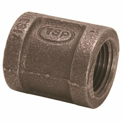 PROPLUS 3/8 IN. X 1/4 IN. BLACK MALLEABLE REDUCING COUPLING