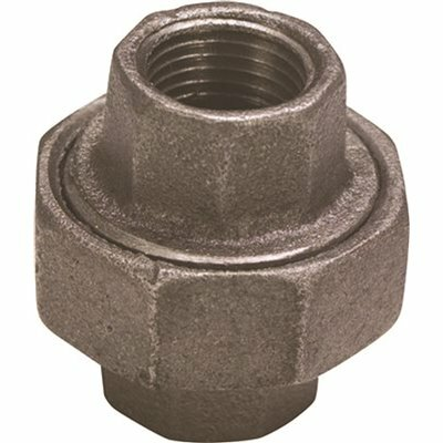 PROPLUS 1-1/2 IN. BLACK MALLEABLE UNION