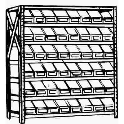 GLOBAL EQUIPMENT COMPANY SHELVING UNIT 7-SHELF 36 IN. X 39 IN. X 18 IN.