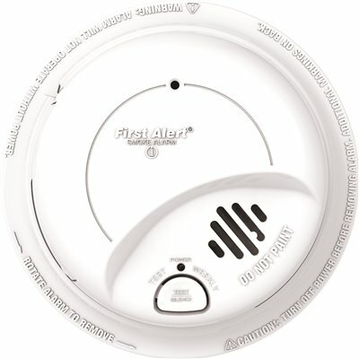 BRK BRANDS 120-VOLT HARDWIRE, IONIZATION SENSOR SMOKE ALARM DETECTOR PERFECT MOUNT WITH BATTERY BACKUP