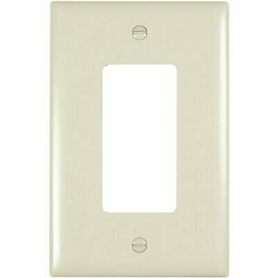 LEGRAND IVORY 1-GANG DUPLEX OUTLET WALL PLATE (1-PACK)