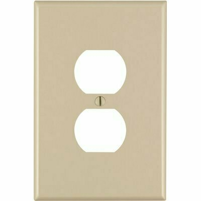 LEGRAND WHITE 1-GANG DUPLEX OUTLET WALL PLATE (1-PACK)