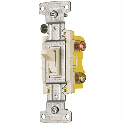 HUBBELL WIRING TOGGLE SWITCH 3 WAY 15A 120V ALMOND