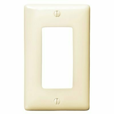 HUBBELL WIRING DECORATOR 1 GANG WALL PLATE ALMOND