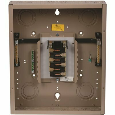 EATON CH 125 AMP 12-SPACE 12-CIRCUIT INDOOR MAIN LUG LOADCENTER WITH COVER