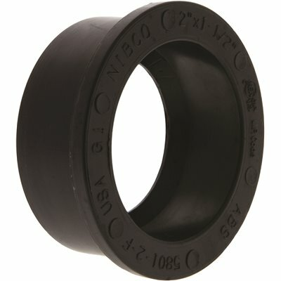 NIBCO 2 IN. X 1-1/2 IN. ABS DWV SPIG. X HUB FLUSH BUSHING