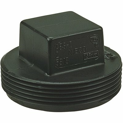 NIBCO 3 IN. ABS DWV MIPT CLEANOUT PLUG