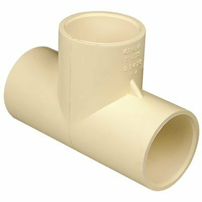 GENOVA PRODUCTS 1 IN. CPVC TEE - GENOVA PRODUCTS PART #: 51410