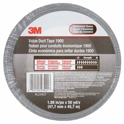 3M 1.88 IN. X 50 YDS. VALUE DUCT TAPE SILVER (24-PACK) - 3M PART #: 1900