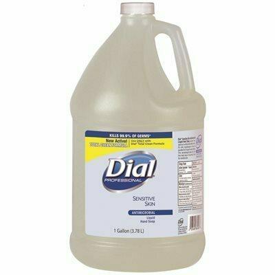 DIAL DIAL SENSITIVE SKIN ANTIMICROBIAL LIQUID HAND SOAP - 4/1 GALLON REFILL
