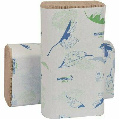 RENOWN NATURAL MULTIFOLD PAPER TOWELS (250 SHEETS PER PACK 16 PACKS PER CASE)