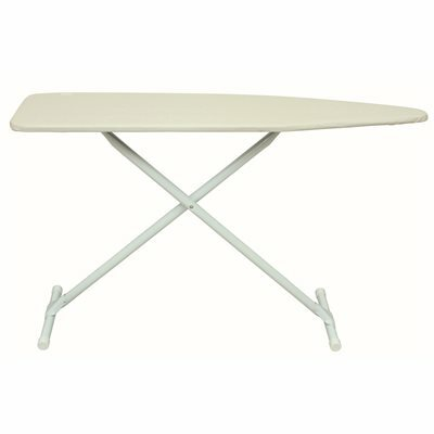 HOMZ HEAVY-DUTY HOTEL BOARD IRONING BOARD WITH PAD AND COVER IN KHAKI