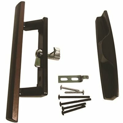 STRYBUC INDUSTRIES 3-1/2 IN. HOLE CENTERS SLIDING PATIO GLASS DOOR HANDLE SET