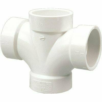 NIBCO 2 IN. X 2 IN. X 1-1/2 IN. X 1-1/2 IN. PVC DWV H X H X H X H DOUBLE SANITARY TEE