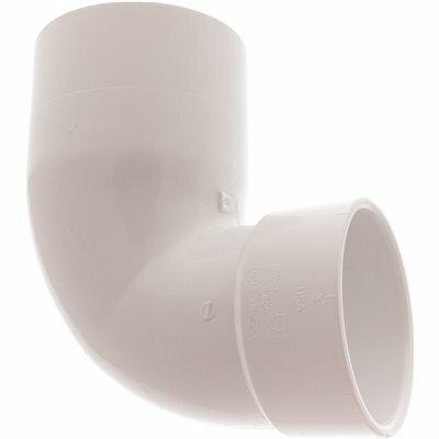 NIBCO 4 IN. X 3 IN. PVC DWV 90 DEGREE SPIGOT X HUB STREET CLOSET ELBOW