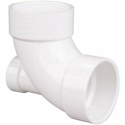 NIBCO 4 IN. X 4 IN. X 2 IN. PVC DWV 90-DEGREE HUB X HUB X HUB ELBOW