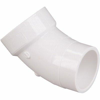 NIBCO 6 IN. PVC DWV 45-DEGREE HUB X SPIGOT STREET ELBOW