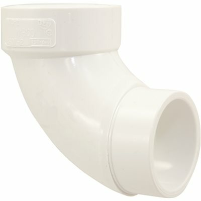 NIBCO 2 IN. PVC DWV 90-DEGREE SPIGOT X HUB STREET ELBOW