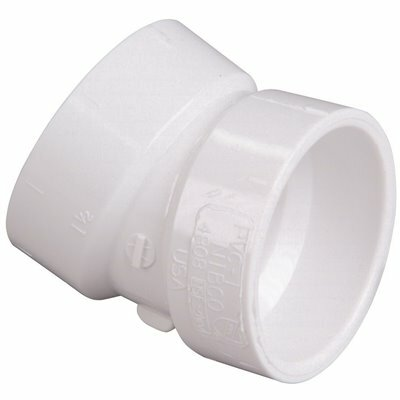 NIBCO 1-1/2 IN. PVC 22-1/2 DEGREE HUB X HUB ELBOW