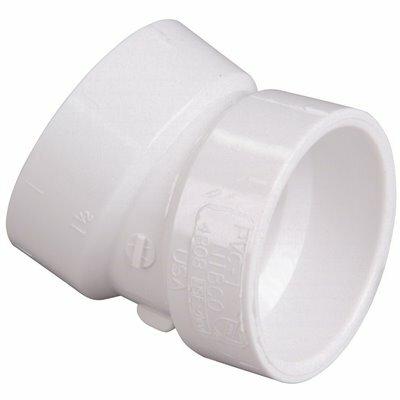 NIBCO 4 IN. PVC 22-1/2 DEGREE HUB X HUB ELBOW