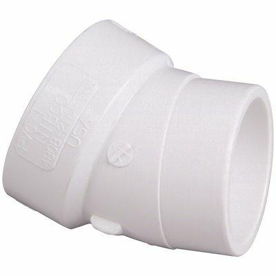 NIBCO 1-1/2 IN. PVC DWV 22-1/2-DEGREE H X SPG STREET ELBOW