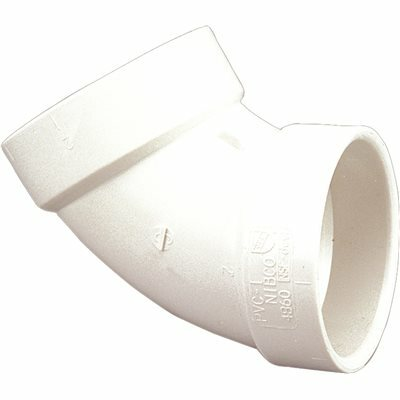 NIBCO 1-1/2 IN. PVC DWV 60 DEGREE HUB X HUB ELBOW