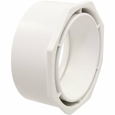NIBCO 3 IN. X 1-1/2 IN. PVC DWV SPIGOT X HUB FLUSH BUSHING FITTING