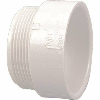 NIBCO 1-1/2 IN. PVC DWV HUB X MIPT MALE ADAPTER