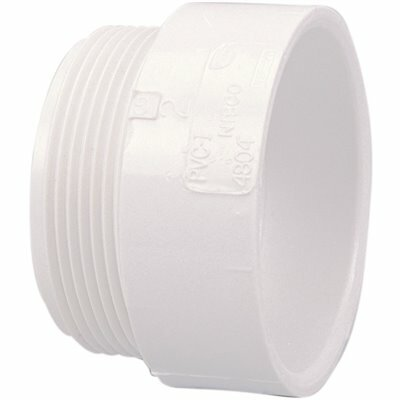 NIBCO 4 IN. PVC DWV HUB X MIPT MALE ADAPTER FITTING