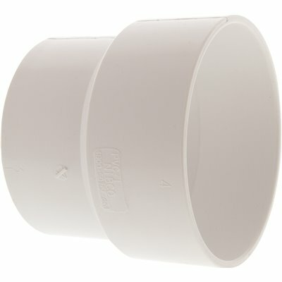 NIBCO 3 IN. X 4 IN. PVC DWV HUB X SEWER AND DRAIN SOIL PIPE ADAPTER