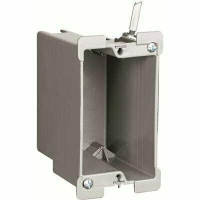 LEGRAND PASS & SEYMOUR SLATER OLD WORK PLASTIC 1 GANG 18 CU. IN. SWING BRACKET BOX WITH QUICK/CLICK