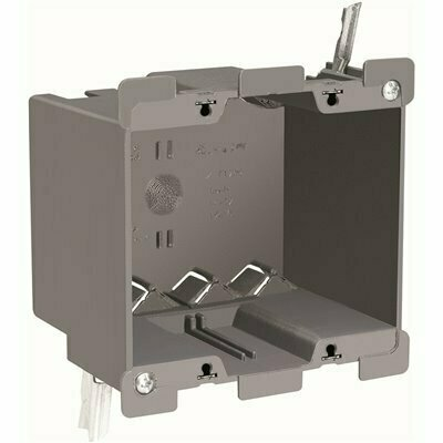 LEGRAND PASS & SEYMOUR SLATER OLD WORK PLASTIC 2 GANG 32 CU. IN. SWING BRACKET DEEP SWITCH AND OUTLET BOX WITH QUICK/CLICK