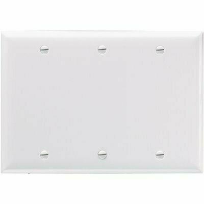 LEGRAND WHITE 3-GANG BLANK PLATE WALL PLATE (1-PACK)