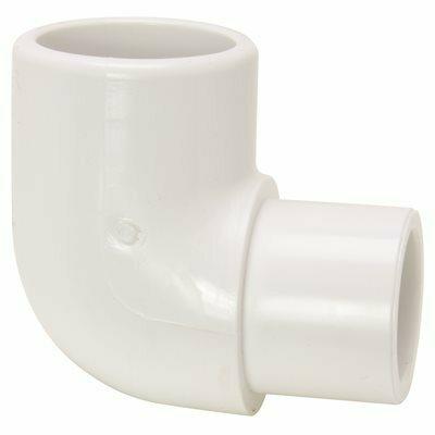 MUELLER STREAMLINE 1-1/4 IN. PVC SCHEDULE 40 PRESSURE 90-DEGREE SPIGOT X SLIP STREET ELBOW
