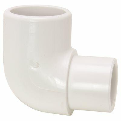 MUELLER STREAMLINE 1-1/2 IN. PVC SCHEDULE 40 PRESSURE 90-DEGREE SPIGOT X SLIP ELBOW