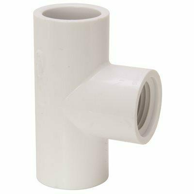 MUELLER STREAMLINE 3/4 IN. PVC SLIP X SLIP X FIPT TEE