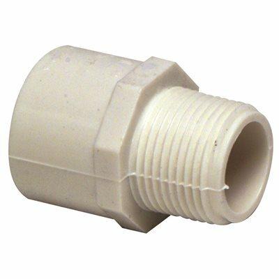 MUELLER STREAMLINE 1 IN. X 3/4 IN. PVC SCHEDULE 40 PRESSURE MIPT X SLIP REDUCING MALE ADAPTER