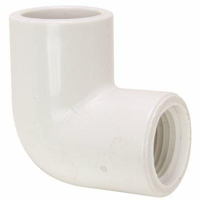 MUELLER STREAMLINE 3/4 IN. SCHEDULE 40 PVC 90-DEGREE SLIP X FIPT ELBOW