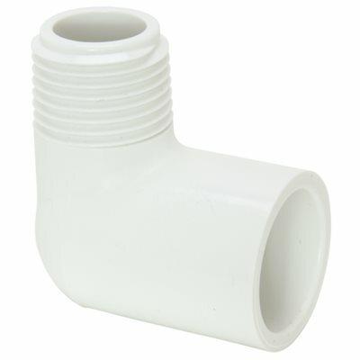MUELLER STREAMLINE 1 IN. PVC SCHEDULE 40 PRESSURE 90-DEGREE S X MPT STREET ELBOW