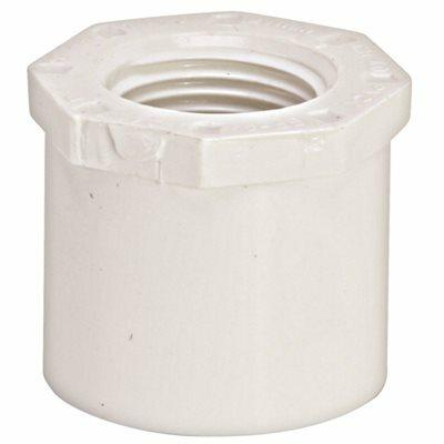 MUELLER STREAMLINE 1-1/2 IN. X 1-1/4 IN. PVC SCHEDULE 40 PRESSURE SPIGOT X FIPT BUSHING