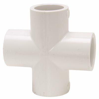 MUELLER STREAMLINE 1/2 IN. PVC PRESSURE S X S X S X S CROSS