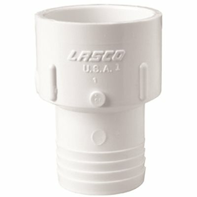 LASCO FITTINGS PVC SCH 40 SLIP X INSERT ADAPTER 1 IN.