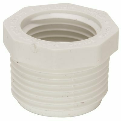 MUELLER STREAMLINE 3/4 IN. X 1/2 IN. PVC SCHEDULE 40 PRESSURE MPT X FPT BUSHING - MUELLER STREAMLINE PART #: 439-101