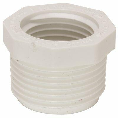 MUELLER STREAMLINE 1 IN. X 3/4 IN. PVC SCHEDULE 40 PRESSURE MIPT X FIPT BUSHING