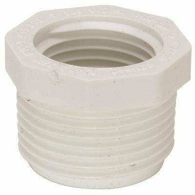 MUELLER STREAMLINE 1-1/4 IN. X 1 IN. PVC SCHEDULE 40 PRESSURE MIPT X FIPT BUSHING
