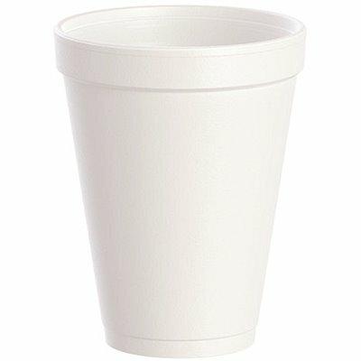 DART J-STYLE 12 OZ. WHITE STYROFOAM CUPS (1000-PACK)
