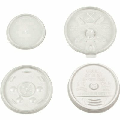 DART 12-SERIES TRANSLUCENT STRAW SLOTTED LID (1000 PER PACK)